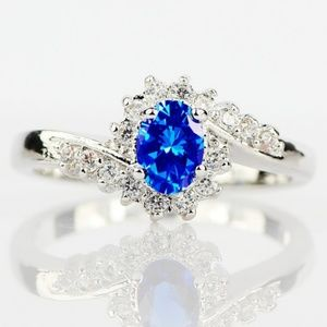 🌟NEW Exquisite Sapphire Blue .925 Sterling Silver